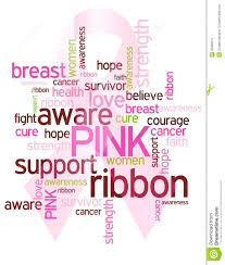 ribbon with words pink awareness ribbon stock vector illustration of breast 36398573