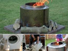 Making Fire Pit From Washer Tub - washer drum fire pit ideas tutorial a super easy diy washing