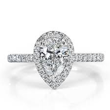shaped engagement ring broumand 1 42ct pear shaped diamond engagement ring