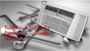 Window Air Conditioners Reviews Frigidaire 8k Btu Window Air Conditioner Installation And Review
