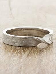 ss wedding ring lyle mobius textured wedding band ken design