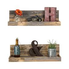 Thick Wood Floating Shelves by Floating U0026 Hanging Shelves You U0027ll Love Wayfair