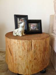 Wood Block Side Table Coffee Tables Mesmerizing Wood Trunk Side Table And Tree Stump