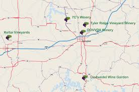 Missouri Road Map Ozark Mountain Wine Trail