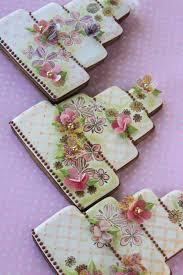 stunning wedding cake cookies by julia m usher made using