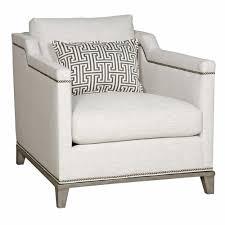 linen club chair carroll modern classic nailhead trim ivory linen club chair
