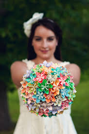 How To Make A Bridal Bouquet Diy How To Origami Paper Flower Bouquet Capitol Romance