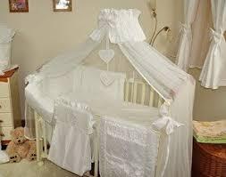 Nursery Bedding Sets Uk 7 Pcs Baby Bedding Set Canopy Drape Canopy Holder Bumper To Fit