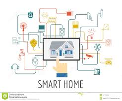 eco friendly smart house concept infographic template flat sty