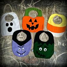 halloween bibs frankenstein vampire candy corn pumpkin