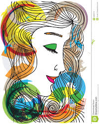abstract sketch of woman face stock vector image 32605179