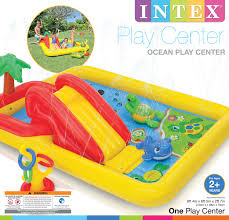 intex ocean play center kids inflatable wading pool walmart com