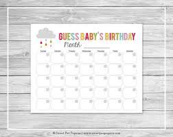 baby s birthday rainbow showers baby shower guess baby s birthday