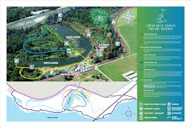 Great Loop Map Great Blue Heron Nature Reserve Society U2013 The Site U0026 Trails