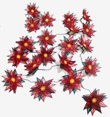 String Of Flower Lights by Ith Poinsettia String Of Lights Embroidery Project By Pat Williams