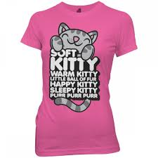 soft kitty t shirt pink the big bang theory cbs store