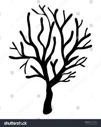 scary halloween white background halloween creepy scary bare tree vector stock vector 487729639