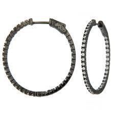 black hoop earrings small size large cz silver hoop earrings