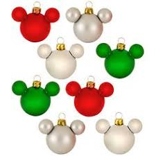 rainbow glass mini mickey mouse ornaments 8 pc set i
