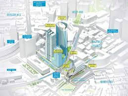 South Station Boston Map by Mapping The Eight High Rises Under Construction Or Planned In