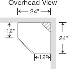 how to measure corner cabinets hton assembled 24x30x12 in diagonal corner wall kitchen cabinet in medium oak
