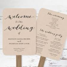Rustic Wedding Program Fans Wedding Program Fans Rustic Wedding Programs Outdoor Wedding