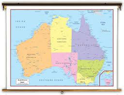 map of australia political australia political educational wall map from academia maps