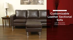 sky3496 sky3495 leather l shape sectional sofa couch w reversible