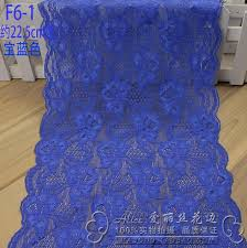 wide lace ribbon 2 meters 22 5cm royal blue embroidered net wide lace trim