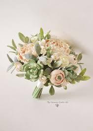 Wedding Flowers Keepsake Wedding Bouquet Keepsake Wedding Bouquet Peach Blush Peonies Green