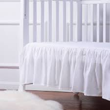 Mini Crib Bed Skirt by Amazon Com Tillyou 100 Combed Cotton Sateen Crib Skirt White