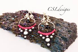 Beaded Chandelier Earrings 18 For Micro Macrame Chandelier Earrings Youtube