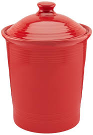 Large Kitchen Canisters Amazon Com Fiesta 3 Quart Large Canister Scarlet Kitchen