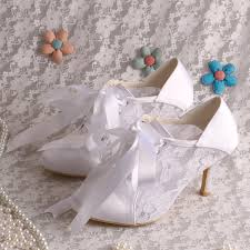 Wedding Shoes Off White Aliexpress Com Buy Wedopus Mw869 Custom Handmade Off White Lace