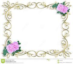 wedding borders wedding invitation roses template stock photo image 6504790
