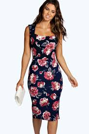 boohoo clothing floral sweetheart midi dress boohoo