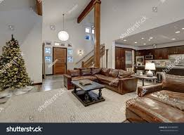 vaulted ceiling floor plans vaulted ceiling living room accented wood stock photo 559186009