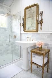 Bathroom Accent Table Traditional Bathroom With Accent Table Next To A Pedestal Sink