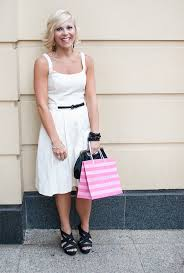 cue dress fresh white cue dress with black accessories bne style