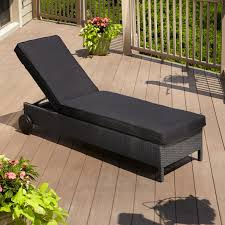 Wicker Patio Lounge Chairs Chaise Lounges Black Resin Wicker Outdoor Patio