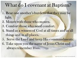 lds baptismal covenant list fhe once a month up to baptism