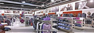 clothing stores furniture and fittings for men women and childrens clothing shops