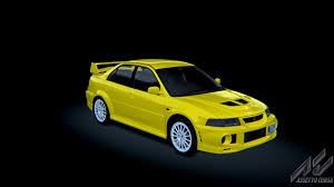 mitsubishi yellow mitsubishi lancer evo vi gsr mitsubishi car detail assetto