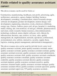 top 8 quality assurance assistant resume samples