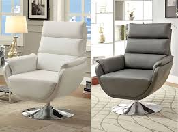 Grey And White Accent Chair Modern Swivel Accent Chair