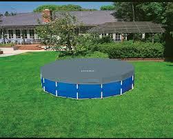 intex 15 ft x 48 in metal frame round pool set academy