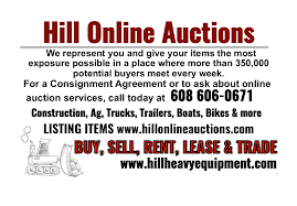 hill online auctions services do you have heavy equipment for