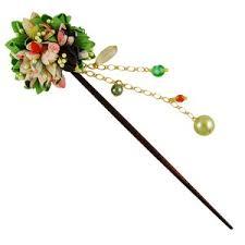kanzashi hair pin bouquet kanzashi hairpin green japanya
