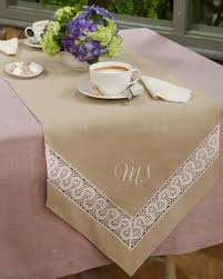 how to make table runner at home lace inset table runner video martha stewart