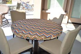outdoor dining table cover round fitted tablecloth outdoor fabric elastic or drawstring